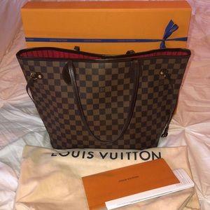 Louis Vuitton Neverfull mm Damier Ebene /DE🍁🍂